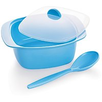 Cello Ware Serving Bowl With Spoon Square Blue