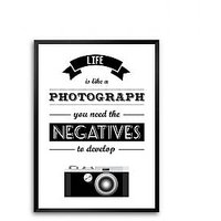 Life Is Like A Photographs Life Inspirational Framed Quotes Poster