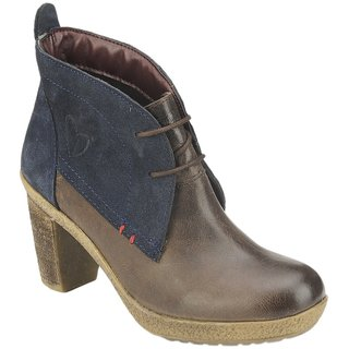 Delize Brown Navy Womens Footwear