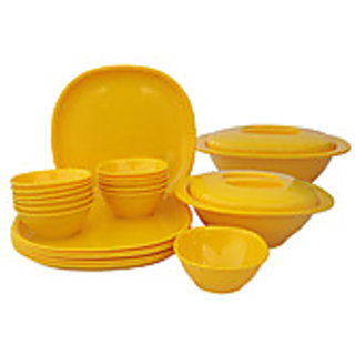 INCRIZMA Yellow 22 pcs dinner set