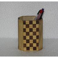Pen Stand Penjar Desk Table Office Stationery Gift Item Holder Jar Pencil