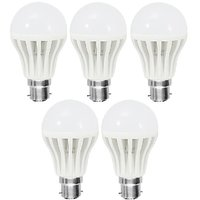 COMBO OF 5 PCS - 9W LED BULB BRIGHT WHITE LIGHT SAVING ENERGY - 6296188