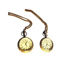 NAUTICALMART SOLID BRASS 1917 MARINE ARTS POCKET WATCH SET OF 2