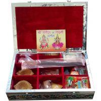 Silver Minakari Handicraft Pooja Box - 6297018