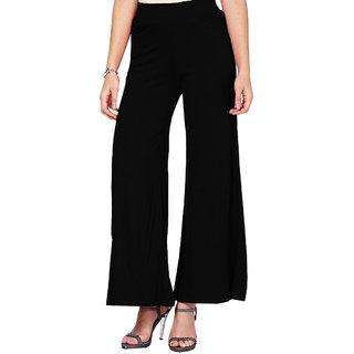 Softwear Black Viscose Palazzo Pants