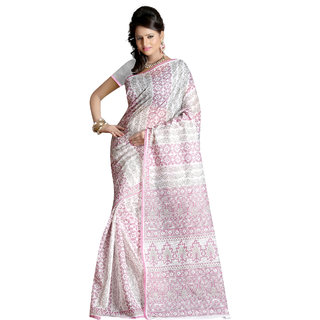 Fabdeal Grey Colored Cotton Printed Saree