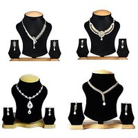 Combo of 4 AD Designer Necklace Set By The Pari