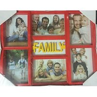 KNG 6 IN 1 COLLAGE PHOTO FRAME-RED