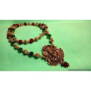Stunning Lakshmi devi Temple Long Necklace