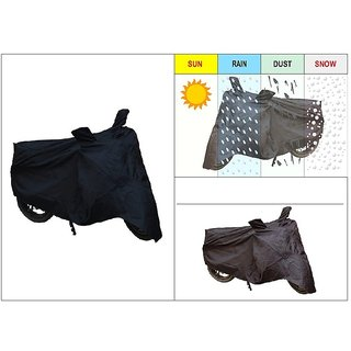 AutoSun-Bike Body Cover With Mirror Pockets (Black) For TVS Apache RTR 160