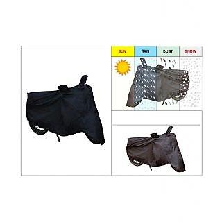 AutoSun-Bike Body Cover With Mirror Pockets (Black) For Suzuki Hayate
