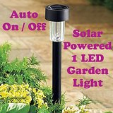 Gadget Hero's Solar Powered Rechargeable LED Flowerbed Garden Lawn Walkway Driveway Light Lamp Auto On Waterproof 600 mAh rechargeable battery.