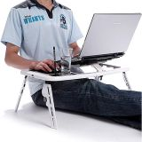 E Table - Foldable & Portable Laptop Stand - 2 USB Cooling Fans