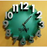 [Green] Creative Real 3D Number Analog Wall Clock - HIGH QUALITY