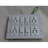 4 In 4 Power Strip Extension Cord Board (Plywood Body)