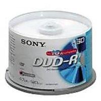 SONY 4.7GB/120min 1X-16X BLANK DVD Media DVD-R Pack-50 Spindle