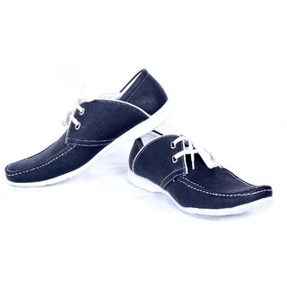 Contablue Men's Loafer With Lace Black