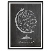 Change Your Thoughts And You Change Your World Inspirational Quote Framed Poster