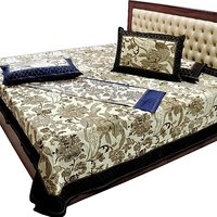 Jaipuri Pure Cotton Double & Single Bedsheet Combo