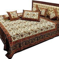 Pure Cotton Double Bedsheet & Cushion Cover Combo