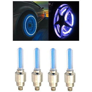 AutoSun-Car Tyre LED Light with Motion Sensor - Blue Color ( Set of 4) Toyota  Land Cruiser Prado
