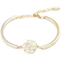 Young & Forever Diva's Special Crystal Rose Bangle Bracelet For Women