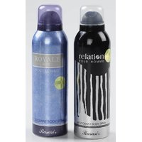 Combo Of 2 Deodorants Of Rasasi Royale Blue & Relation For Men 200 Ml Each (Deo)