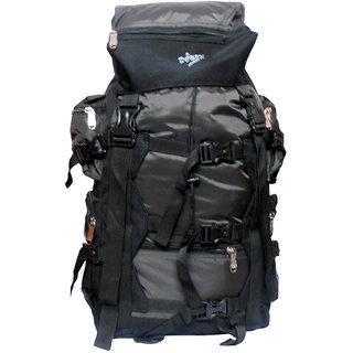 Donex 50-60 L Polyester Black Rucksack