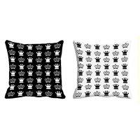 2pc Combo MeSleep Abstract Digital Print 16x16 Inch Cushion Covers