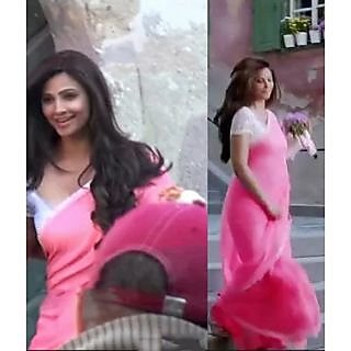 Jai Ho Bollywood Designer Pink Saree