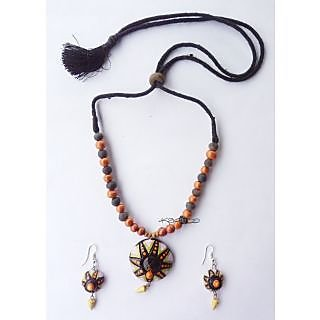 Beautiful Terracotta Jewellery Set 011 Multicolor