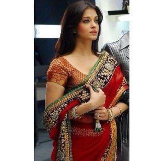 Aishwarya Rai Red Designer Saree In Robot