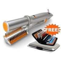 Stylish Hair Styler Rotating Iron Hair Straightened With Free Credit Card Holder - 6373814