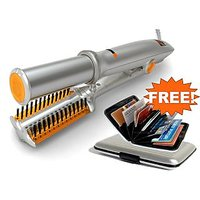 Stylish Hair Styler Rotating Iron Hair Straightened With Free Credit Card Holder