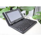 Leather Keyboard Case For 7 Inch Android Tablet PC (Samsung Galaxy Tab, HTC Flyer)