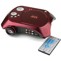 Multimedia LED Projector Built-In DVD Player Cable TV Tuner USB SD Card AV Input