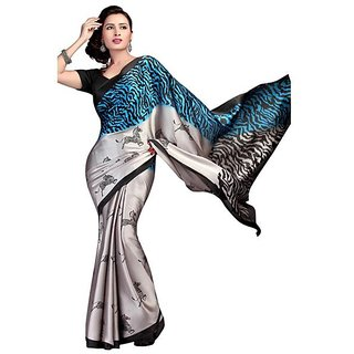 Firstloot Amiable Animal Printed Crape Saree