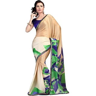 Firstloot Striking Geometrical Printed Crape Saree