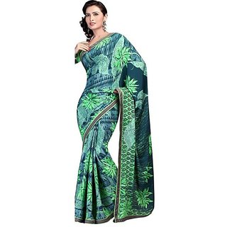 Firstloot Classy Floral Printed Crape Saree