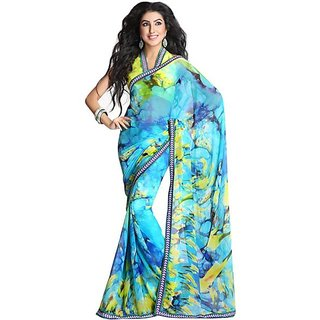 Firstloot Classy Printed Casual Wear Faux Georgette Saree