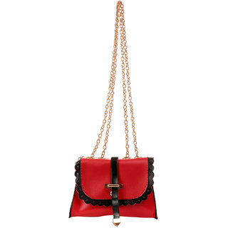 New Pearls Cute Red Girls Sling Bag
