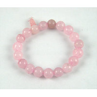 Feng Shui /Natural  Rose Quartz Stone Bracelet For Enhance Love Relationship.