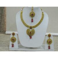 Gold Plated Bridal stone drop Jewellery set
