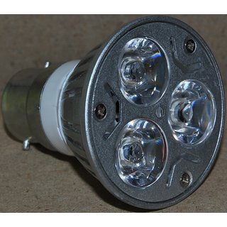 LED Spotlight Bulb 3 watt Normal bulb holder B22