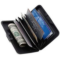 Credit Debit ATM Card Money Holder Unisex Wallet Water Resistance Black Colour