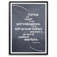 Caring For Myself Is Self Politics Quotes Framed Poster