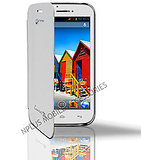 Flip Cover Micromax Canvas 3D White Dotted Leather Cover case [A115] Original