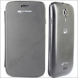 Flip Cover Micromax Canvas 3D Black Dotted Leather Cover case [A115] Original