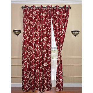 Door Curtain (4x7 feet) mrn flower