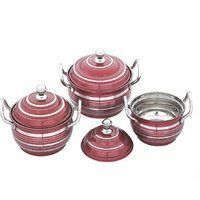 MOKSH 3PCS COLOUR METALLIC COOK & SERVE SET